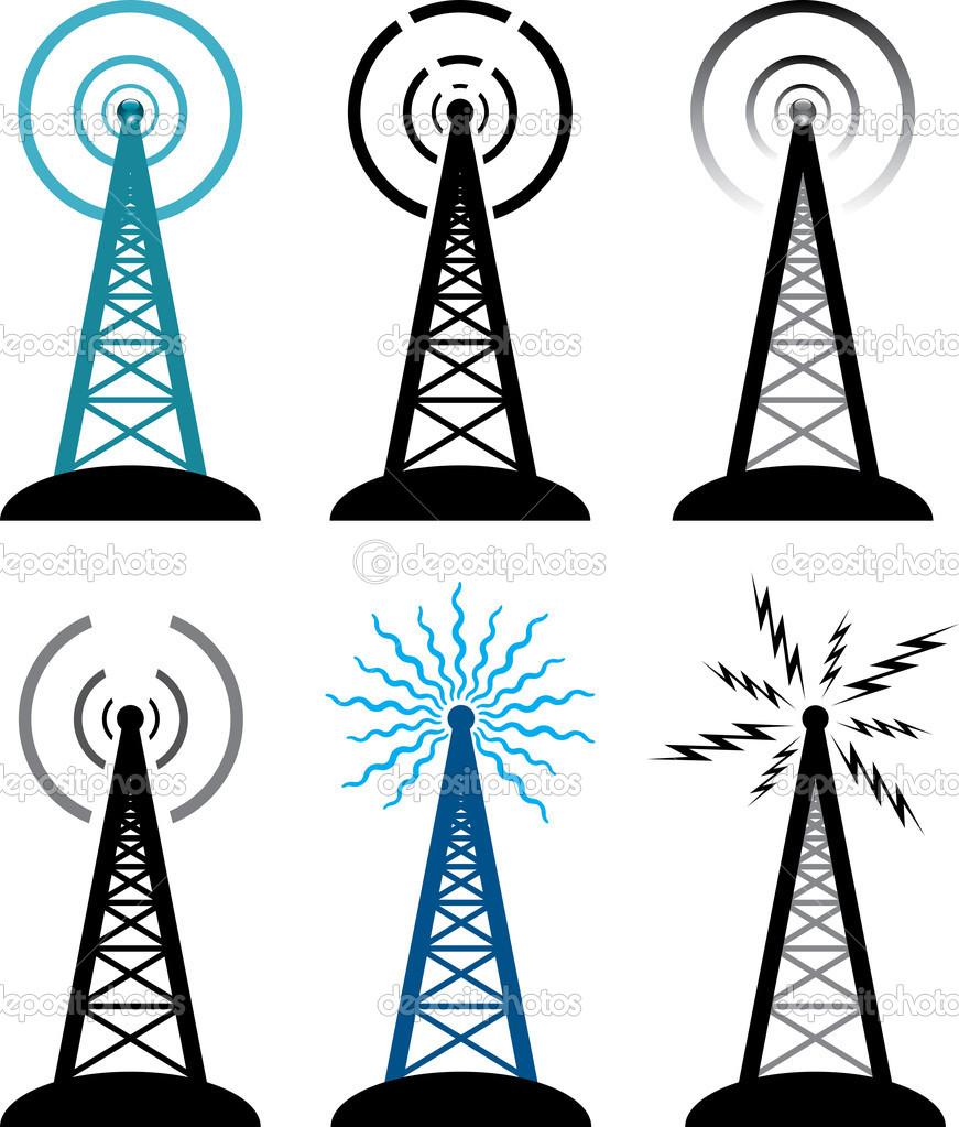 Broadcast Tower Vector Vector design of radio tower