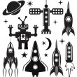 Royalty-Free Stock Vectorielle: Vector stylized space symbols