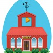 Royalty-Free Stock Vector Image: Vector country school house