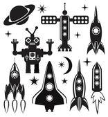 Símbolos de espaço vetorial estilizado — Vetor de Stock