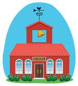 Vector country school house — Stock Vector