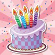 Stock Vector: Vector birthday cake
