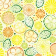 Vector abstract citrus background — Stock Vector