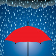 Vector umbrella protection from rain and hail - Stock Vector