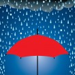 Vector umbrella protection from rain and hail — Stock Vector #8989828
