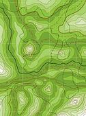 Mapa verde topográfico abstracta del vector — Vector de stock