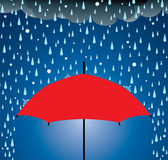 Vector umbrella protection from rain and hail — Stock Vector