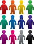 Vector colorful male symbols — Stock Vector