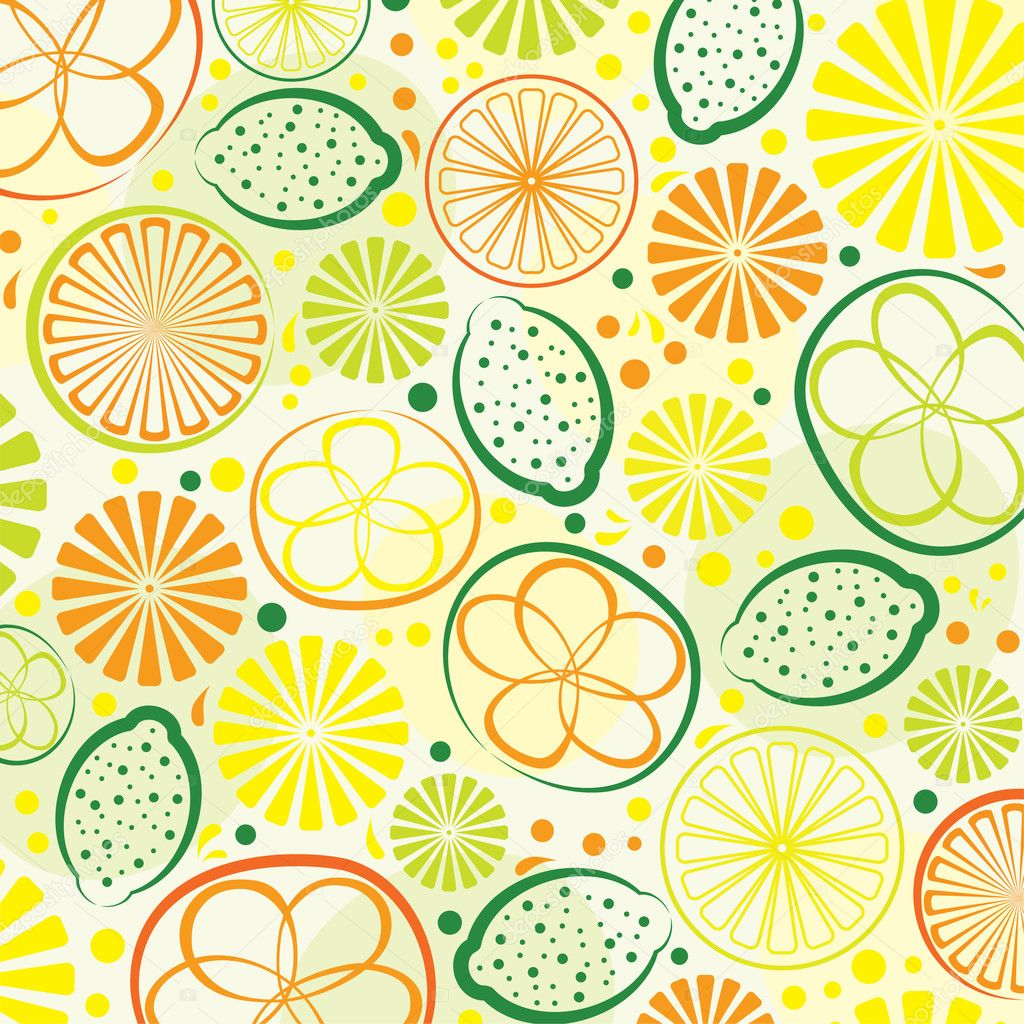 Vector abstract citrus background — Stock Vector #8989807