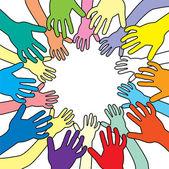 вектор красочные руки — Cтоковый вектор