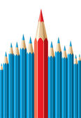 Vector pencils, leadership concept — Stock Vector