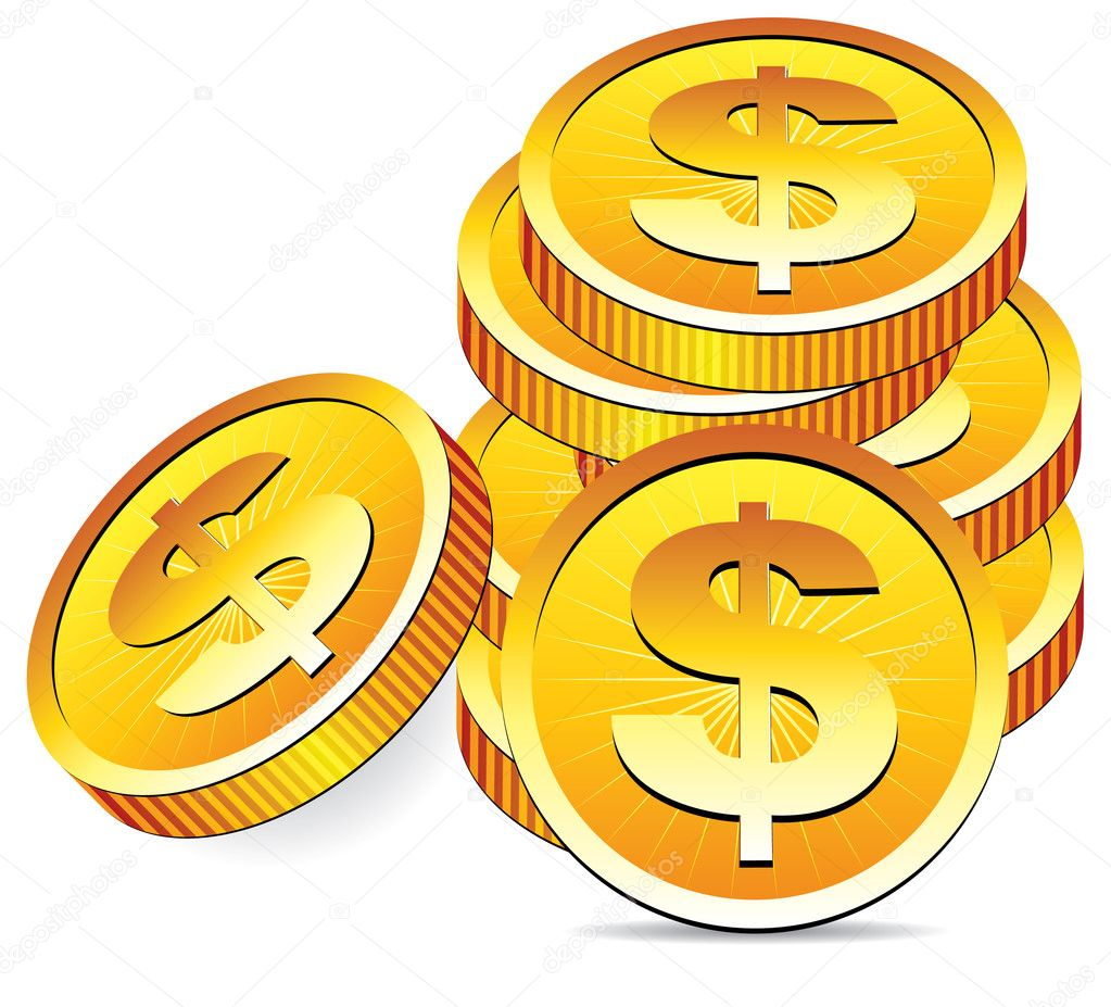 Vector golden coins  Stock Vector #9061806