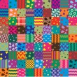 Vector patchwork fabric art background — Image vectorielle