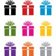 Vector set of colorful gift box symbols — Stock Vector #9145074