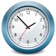 Vector blue clock — Stock Vector