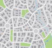 Vektör şehir haritası — Stok Vektör