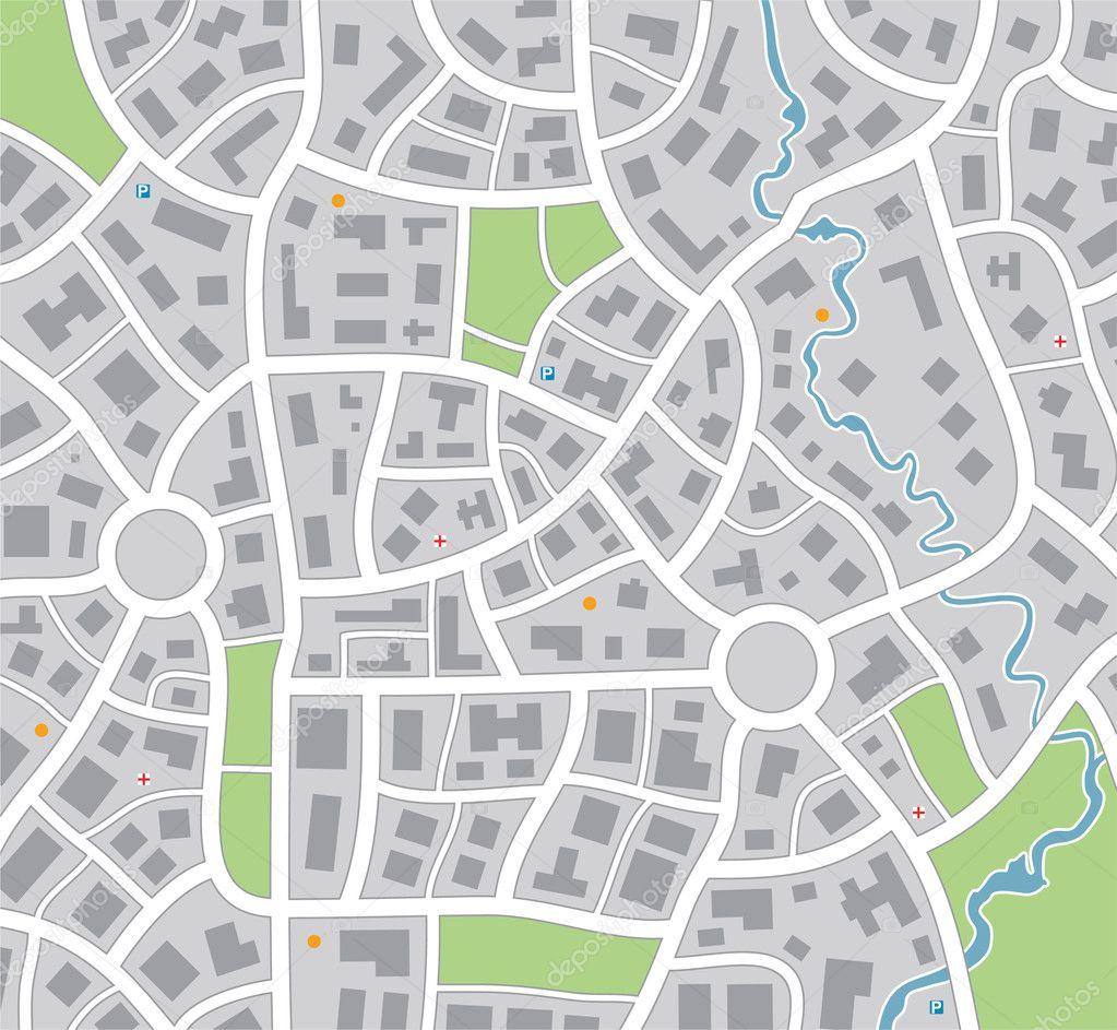 矢量城市地图