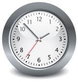 Reloj vector gris — Vector de stock