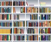 Vector modern bookshelf — Stock Vector