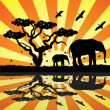 vectores animales en África — Vector de stock  #9235121