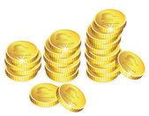 Vector golden coins — Stock Vector