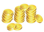 Vector golden coins — Vector de stock