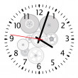 Royalty-Free Stock Vector Image: Vector clock and gears