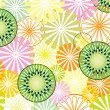 Vector abstract fruit background — Stock Vector