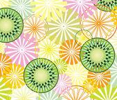 Vetor abstrato frutas fundo — Vetor de Stock