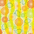 Vector citrus background — Stock Vector