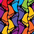 Vector colorful feet background — ストックベクタ