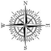 Vector black compass — Stock Vector