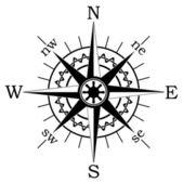 Vector black compass — Vettoriale Stock