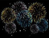 Vector fireworks — Stock Vector