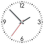 Horloge de vecteur — Vecteur