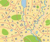 Mapę szczegółową miasta wektor — Wektor stockowy