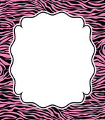 Vector frame with abstract zebra skin texture — Stock Vector