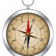 Stockvector : Vector vintage compass