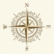 Vector vintage compass - Stockvectorbeeld
