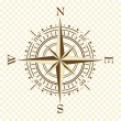 Stock Vector: Vector vintage compass