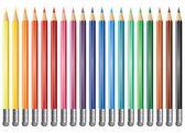 Vector colored pencils — Stock Vector