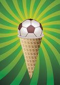 Vektör futbol fan dondurma — Stok Vektör