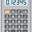 Vector gray calculator — Stock Vector