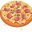 Vector pizza — Stock Vector #9527752