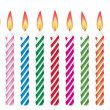 Vector colorful birthday candles — Stock Vector #9545589