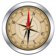 Vector vintage compass — Stockvectorbeeld