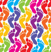 Vector colorful feet background — Stock Vector