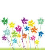 Abstrakte florale vektor hintergrund — Stockvektor