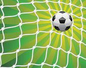 Vector soccer ball — Stock Vector