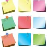 Vector paper notes — Stock Vector